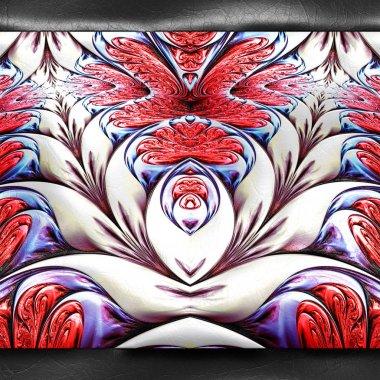 "Картина, постер, плакат, фотообои ""3d рендеринг пластикового фрактала на коже изображение цветы"", артикул 309797998"