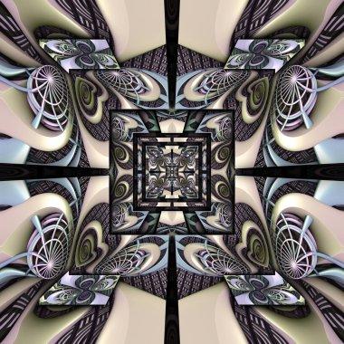 """Картина, постер, плакат, фотообои """"3d рендеринг пластиковой плитки без швов изображение цветы"""", артикул 312831622"""