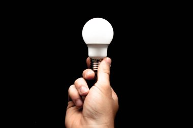 Brainstorming bulb creative idea abstract icon in business hand.