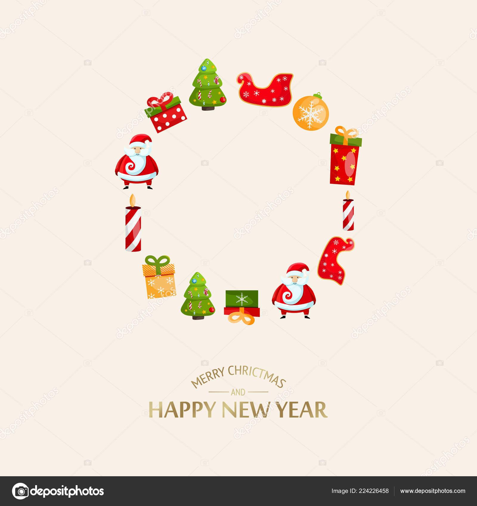 Festive Merry Christmas Light Template Stock Vector Mogil 224226458