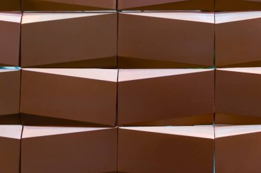 Creative copper geometry texture pattern wall decoration made by plastic for background