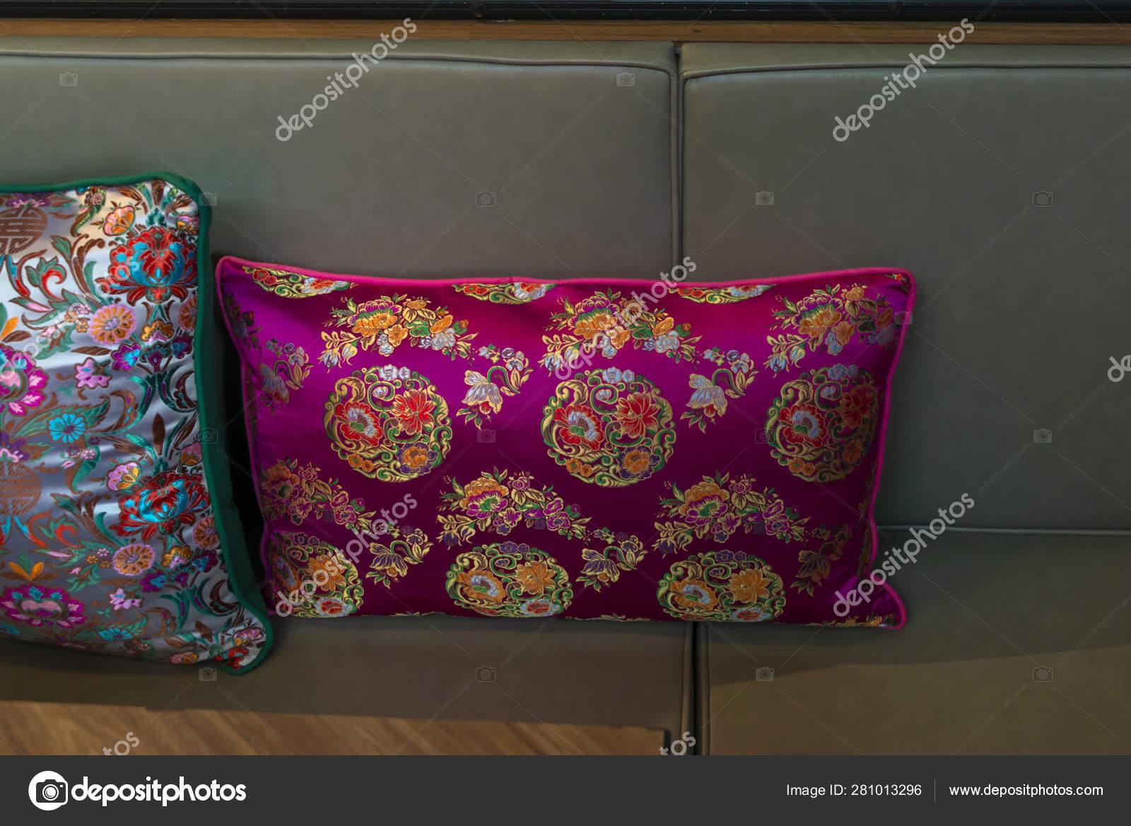 Modern Velvet Pillow Fabric Cushion Green Leather Sofa ...