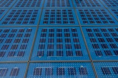 Solar panels in Zadar, Croatia. Greetings to the sun stock vector