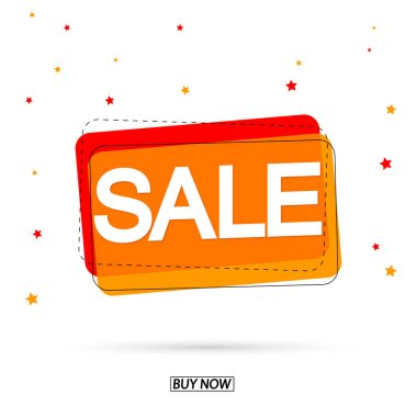 Sale bubble banner design template, discount tag, app icon, vector illustration