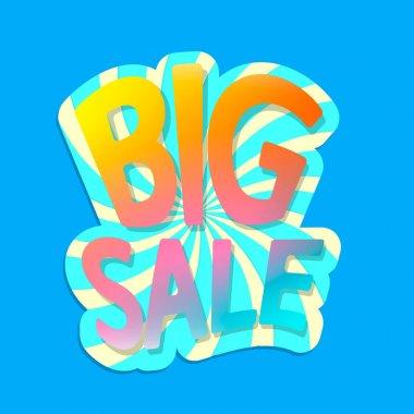 Big Sale, poster design template, vector illustration