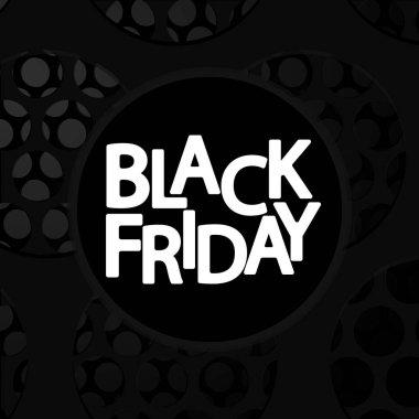 Black Friday, sale poster design template, vector illustration