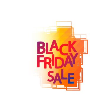 Black Friday Sale, banner design template, discount tag, app icon, vector illustration