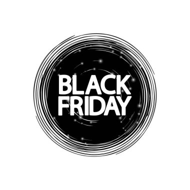 Black Friday, sale banner design template, discount tag, app icon, vector illustration