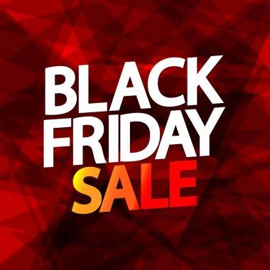 Black Friday Sale, poster design template, vector illustration