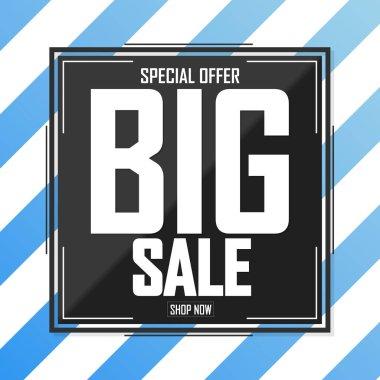 Big Sale, discount poster design template, special offer, vector illustration