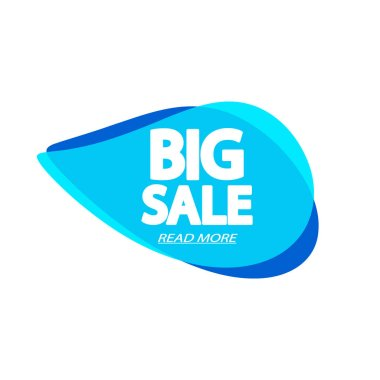 Big Sale tag, bubble banner design template, app icon, vector illustration