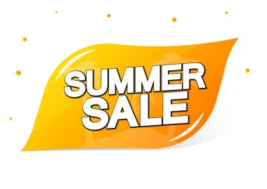 Summer Sale, banner design template, discount tag, special offer, app icon, vector illustration