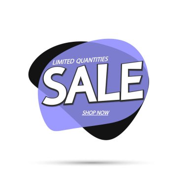 Sale bubble banner design template, discount tag, app icon, vector illustration