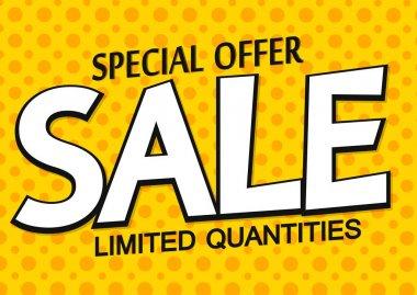 Sale poster design template, special offer, vector illustration