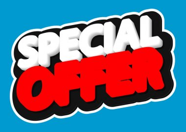 Special Offer, sale tag, poster design template, discount isolated sticker, vector illustration