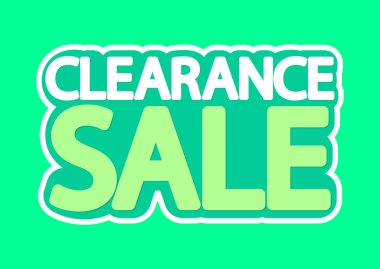 Clearance Sale, poster design template, isolated sticker, vector illustration
