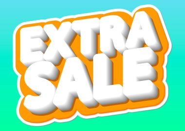 Extra Sale, poster design template, isolated sticker, vector illustration