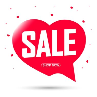 Sale speech bubble banner design template, discount tag, app icon, vector illustration