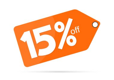 Extra Sale, 15% off, banner design template, discount tag, vector illustration