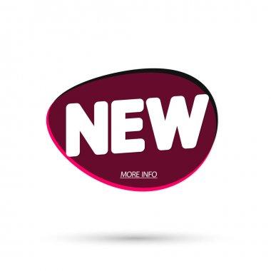 New bubble banner design template, app icon, vector illustration
