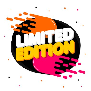 Limited Edition, tag design template, promo banner, vector illustration