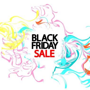 Black Friday Sale, poster design template, final season offer, vector illustration