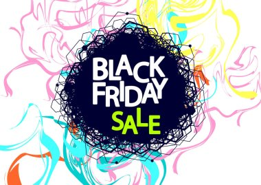 Black Friday Sale, poster design template, final season offer, vector illustration