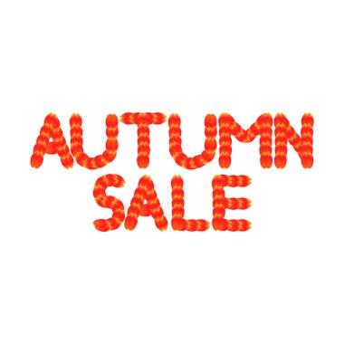 Autumn Sale, poster design template, Fall offer, vector illustration