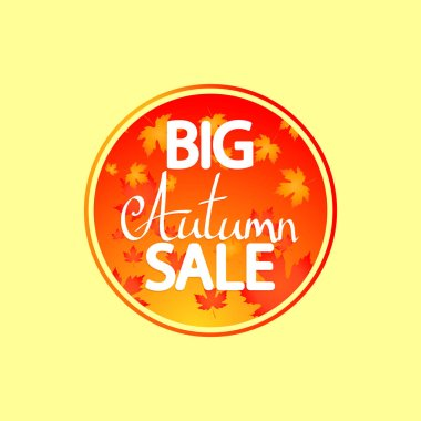 Big Autumn Sale, banner design template, discount tag, Fall offer, app icon, vector illustration