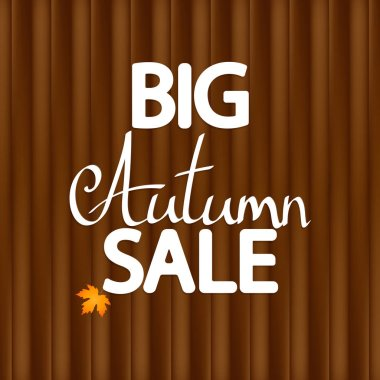 Big Autumn Sale, poster design template, Fall offer, great deal, mega season discount banner, vector illustration
