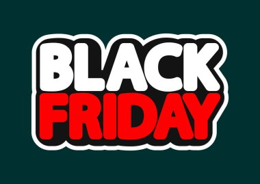 Black Friday , sale poster design template, isolated sticker, vector illustration