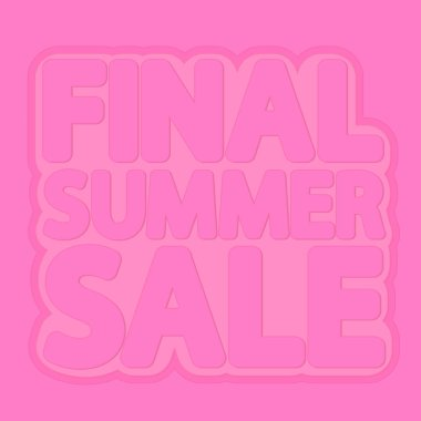 Final Summer Sale, poster design template, isolated sticker, vector illustration