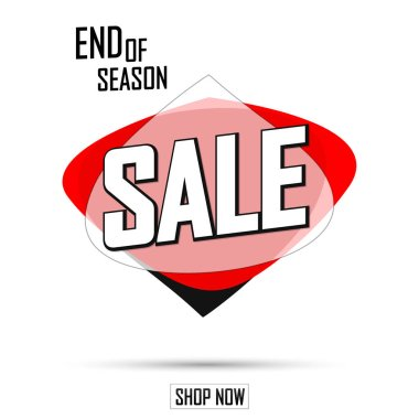 Sale bubble banner design template, discount tag, end of season, app icon, vector illustration