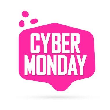 Cyber Monday, sale banner design template, best offer, vector illustration