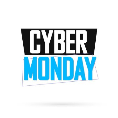 Cyber Monday, sale banner design template, best offer, vector illustration