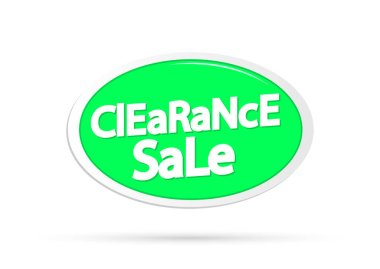 Clearance Sale, offer tag, discount banner design template, vector illustration