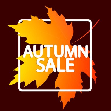 Autumn Sale, poster design template, Fall discount banner, vector illustration