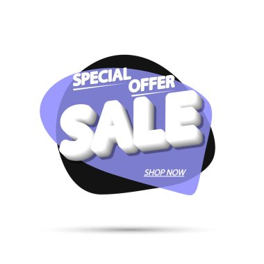 Sale bubble banner design template, fresh discount tag, special offer, app icon, vector illustration