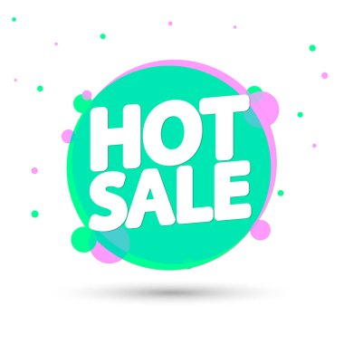 Hot Sale, promotion banner design template, discount tag, vector illustration