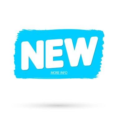 New banner design template, grunge brush promo tag, vector illustration