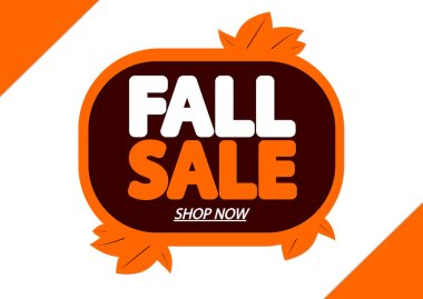 Fall Sale, Autumn discount tag, banner design template, season offer, app icon, vector illustration