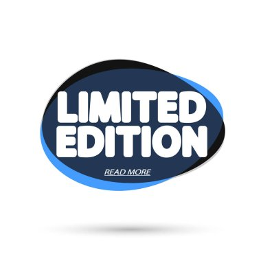 Limited Edition, bubble banner design template, app icon, vector illustration