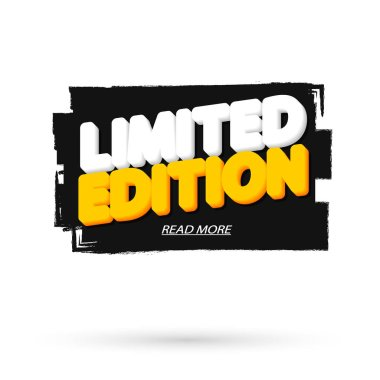 Limited Edition, tag design template, promo banner, brush grunge, vector illustration