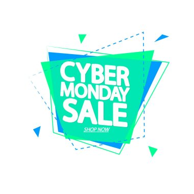 Cyber Monday Sale, banner design template, vector illustration
