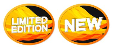 Limited Edition and New banners design template, promotion tags, vector illustration