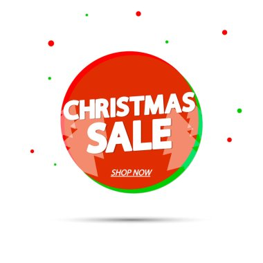 Christmas Sale, banner design template, Xmas discount tag, vector illustration