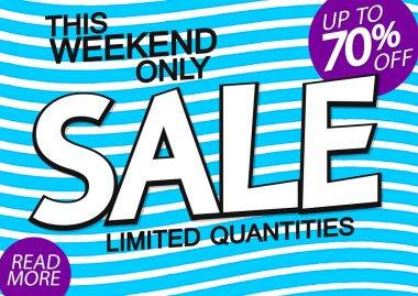 Sale poster design template, special offer, 70% off, vector illustration