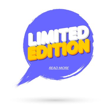 Limited Edition, tag design template, promo banner, brush grunge, vector illustration