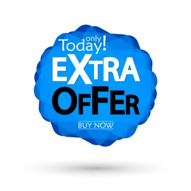 Extra Offer, sale bubble banner design template, discount tag, app icon, vector illustration