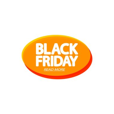 Black Friday Sale tag, bubble banner design template, app icon, vector illustration